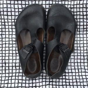 {Birkenstock} Black Mary Jane Shoes
